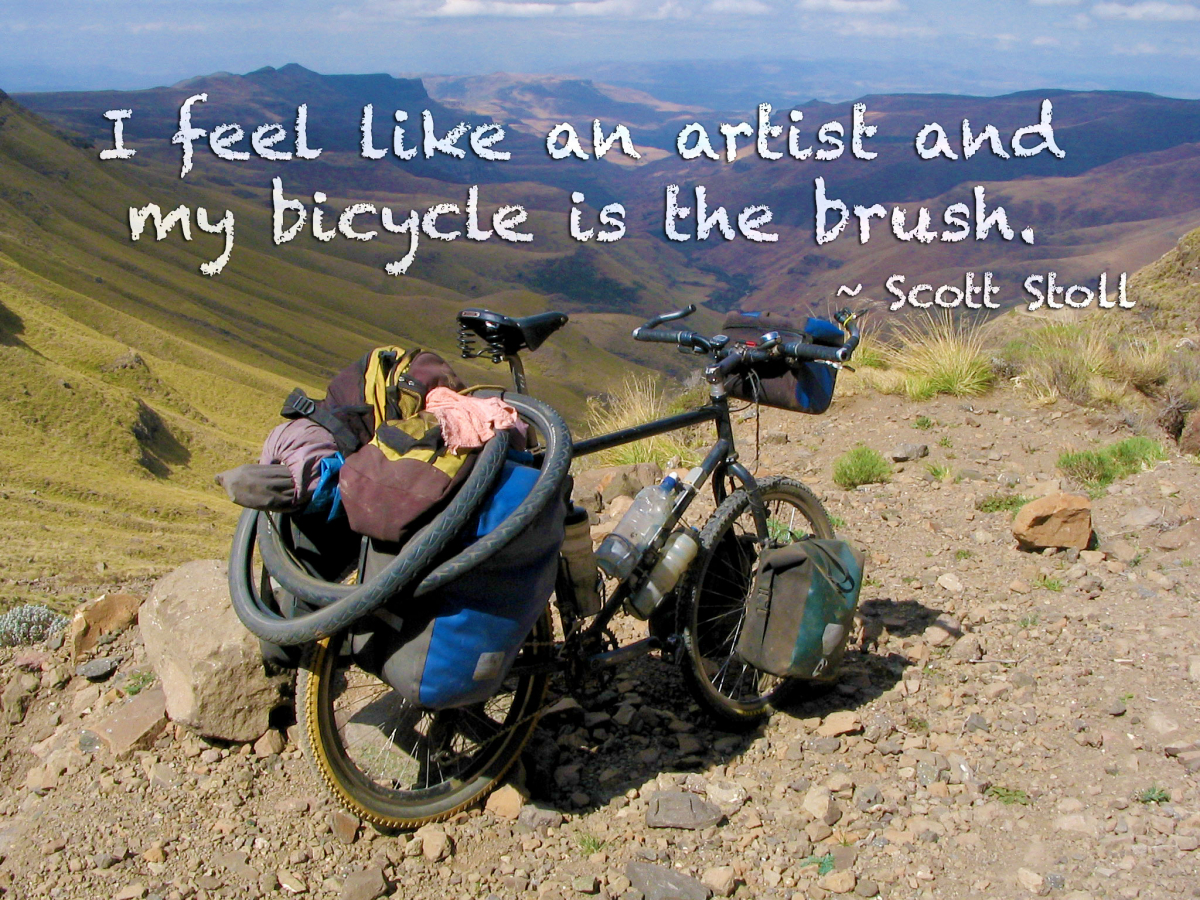 Bicycle quote by Scott Stoll: I feel like an artist and my bicycle is the brush