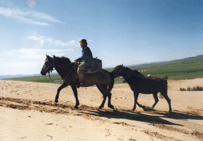 Manfred Shulze around the world by horse
