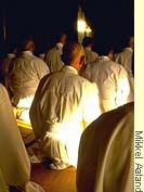 Mikkel meditating