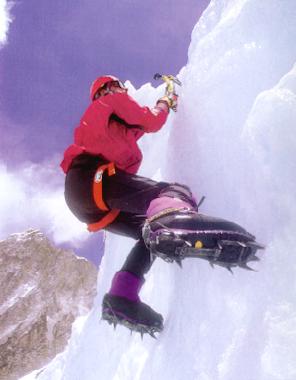 Goran Kropp ice climbing