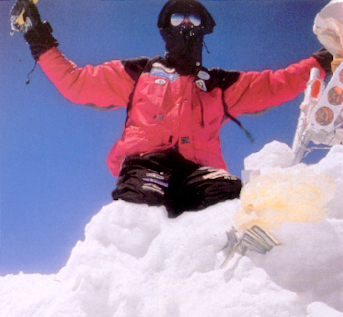 Goran Kropp on Mt Everest summit