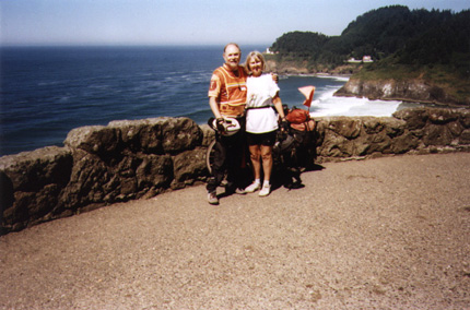 Pacific Coast bicycle tour A scenic outlook