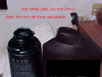 Shampoo leaky bottles.