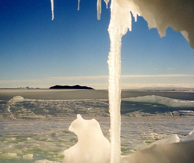 Antarctica pictorial 10 view thru iceberg
