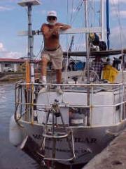 David Clark onboard the Mollie Milar