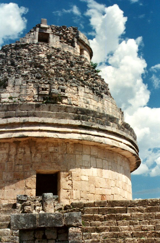 the dome capping the Observatory at Chichen-Itza