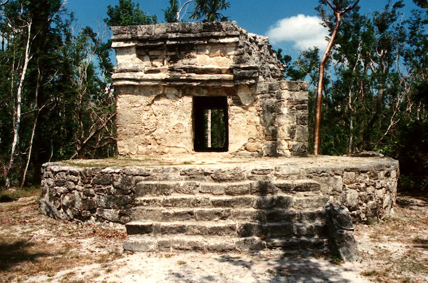 This temple is one of the very few extant reminders of the Maya on Cozumel