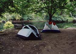 Our tents along side a river