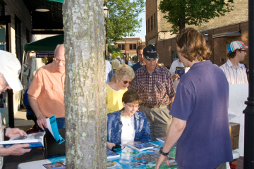 Book signing at my favorite childhood bookstore, Martha Merrell's in Waukesha, WI.