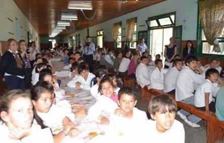 Students in Argentina listening to Scott