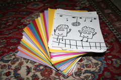 Stack of 1500 drawings for the new book