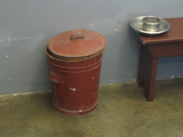 Nelson Mandela's bathroom bucket