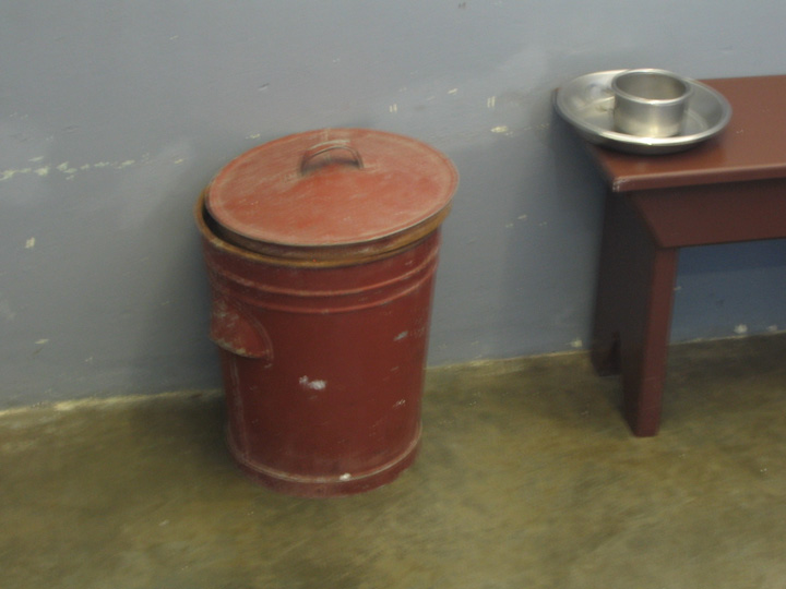 The bucket Nelson Mandela used while in prison