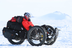 Maria Leijerstam Bicycles to the South Pole