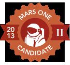 Mars One Candidate Badge Round II