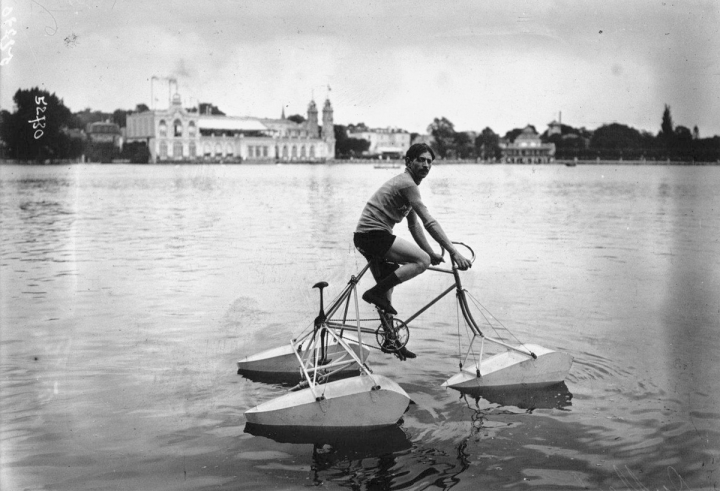 Aquatic tricycle pontoon boat