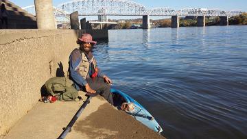 Ohio River Kayaker