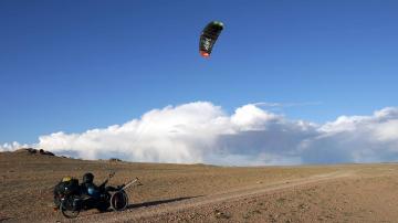 Matthias kite trike Mongolian Tour