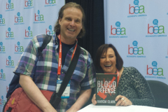 """Marcia Clark (aka the Lead Prosecutor in the O.J. Simpson Trial) with her new book """"Blood Defense""""."""
