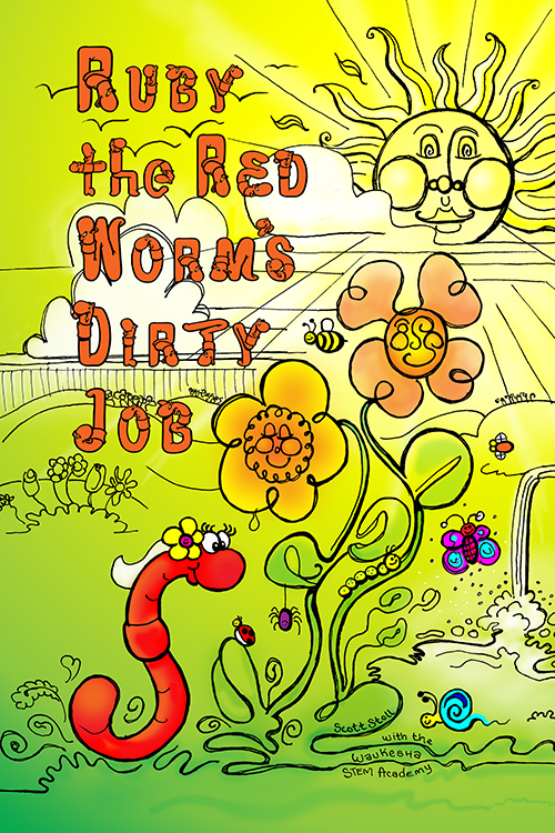 Ruby the Red Worms' Dirty Job from the make-a-book project