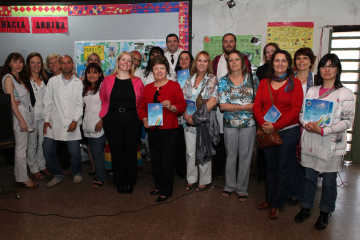 The US Embassy of Argentina delivering books to a local school.