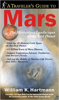 Book Cover. A travelers guide to Mars.