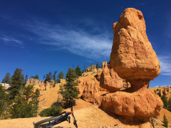 Thunder Mountain Trail, Utah. A hoodoo that resembles a statue from Easter Island.