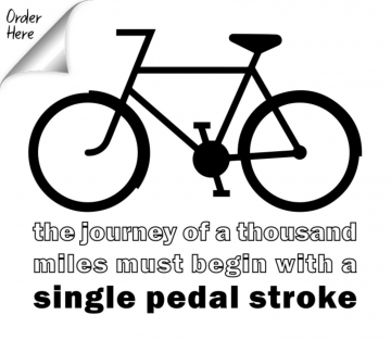 The journey of a thousand miles begins with a single pedal stroke. T-shirt.
