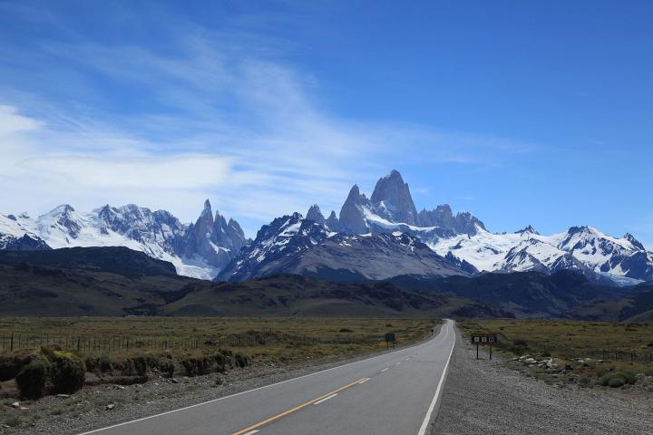 On the road to Laguna De los Tres Trek in El Chalten, Argentine, Patagonia