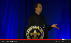 Scott Stoll's keynote speech at the Boy Scouts of America