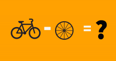 Bicycle pop quiz. A bicycle minus wheel equals what?