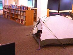 Scotts tent in school library