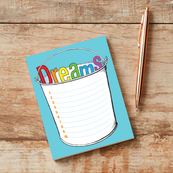 Bucket List Notepad and pen