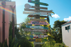 Bahamas directional mileage signs 20200225 0167