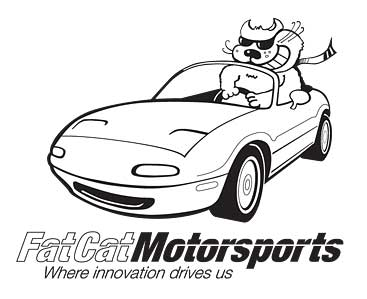 Fat cat motorsports logo final BW