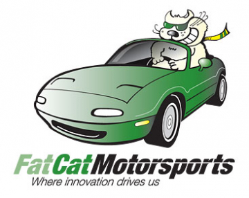 Fat cat motorsports final full-color logo. How is a logo made. The final step.