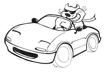 Fat cat motorsports logo round 2