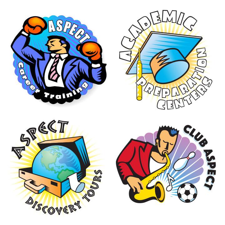 Aspect English Language School Logos