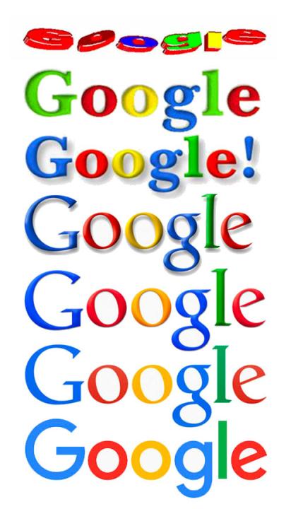 Google logo through the ages