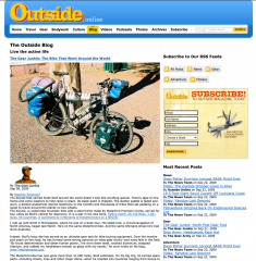 Outside Magazine bicycle that went around the world