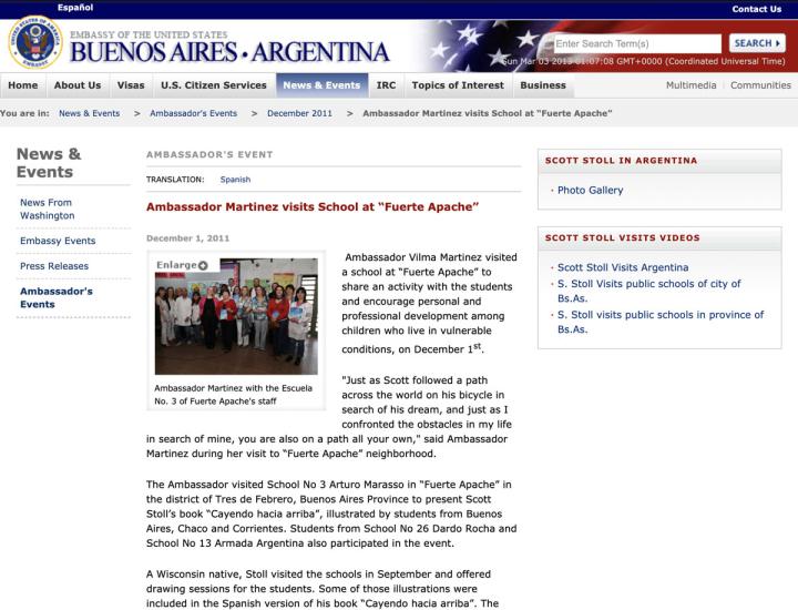 Screen Shot US Embassy Argentina 2011 12 01