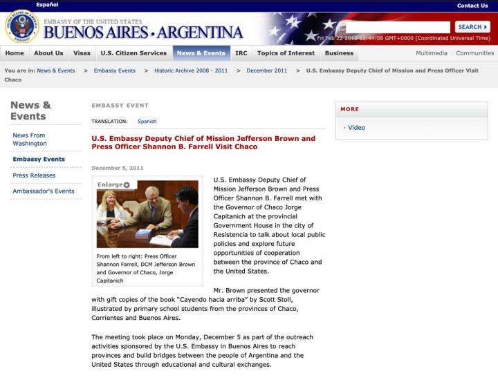 Screen Shot US Embassy Argentina 2011 12 05