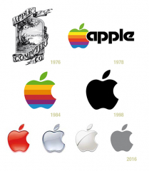 apple logo changes by year