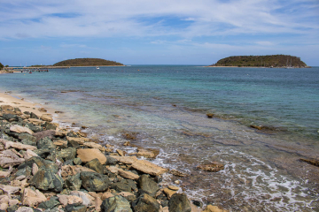 Cayo Real Island from Vieques Island Puerto Rico