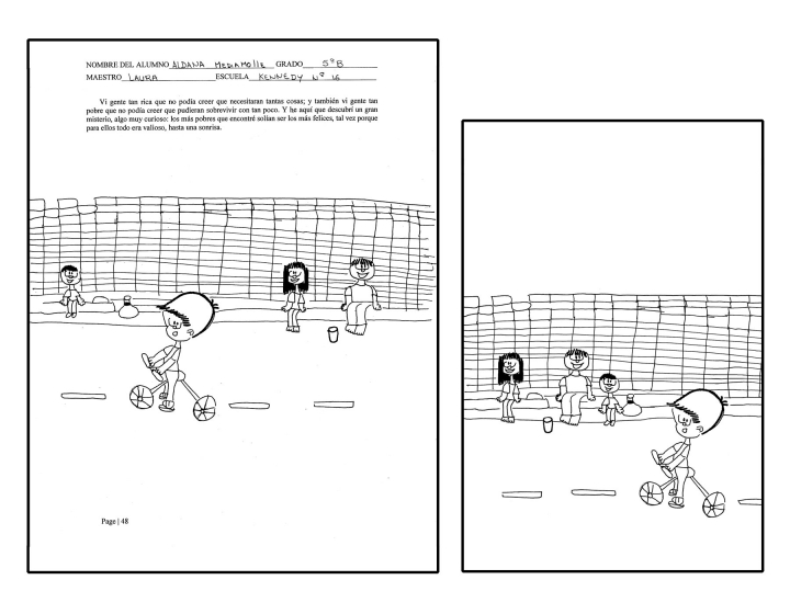 Retouching illustrations before and after. An example of how I change the composition and size of the drawings.