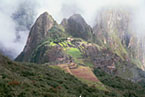 Sacred valley and the lost city of the Incans from Machu Picchu mountain