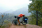 Scott invents bicycle yoga in the himalayas. India.