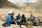 Tea with local Tibetan farmers.