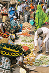 Typical Tanzanian fruit and veg market.